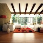 Sàn phòng khách nên kiên cố, màu sắc hài hòa